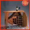 Tableau en bois d'étalage de vin de support en bois en verre pour la bouteille de vin