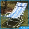 Chaise de pliage de chaise de Sun de chaise de plage avec l'oreiller d'ouate de polyester