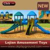 Diapositiva plástica de los últimos juguetes de los niños para el patio al aire libre (X1504-10)