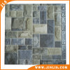 Mattonelle di pavimento di ceramica verdi quadrate della parete della superficie ruvida della pietra del mattone
