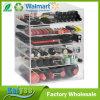 Organizador cosmético de acrílico claro grande del cubo del maquillaje de 6 gradas con 5 cajones