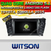 Carro DVD GPS do Android 5.1 de Witson para a classe de Mercedes-Benz E com sustentação do Internet DVR da ROM WiFi 3G do chipset 1080P 16g (A5781)