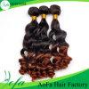 Prolonge brésilienne de bonne qualité de cheveux humains de cheveu de Vierge d'Ombre
