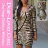 Длиннее платье повязки Sequin золота втулки