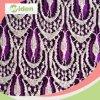Le plus défunts coton de modèle de lacet de tricot de mode et tissu de lacet de nylon