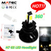 製造業者H7 4 LEDs COB 8000lm Auto LED Headlight Lamp