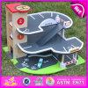 Caminhão de madeira do brinquedo 2015 com jogo do parque, jogo de madeira do brinquedo do caminhão dos miúdos novos, brinquedo de madeira do carro da venda quente, madeira do brinquedo do carro para o bebê W04b028