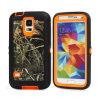 Het oranje Geval van de Verdediger van Camo van het Gras voor de Melkweg van Samsung S6