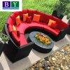 Meubles réglés de jardin de sofa extérieur réglé de sofa de rotin de PE