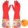 Перчатка резины чистки стопа пыли воды перчатки Dishwashing водоустойчивой перчатки домочадца теплая