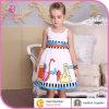 Kind-Kittel-Auslegungen, Großverkauf-umweltfreundliche gestickte Baumwollkind-Kleidung (6153)