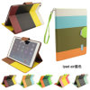 iPad AirのためのもちろんFashion Design Color Blocking Leather Case