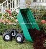 Carro plástico de quatro ferramentas de jardim da mão da descarga das rodas