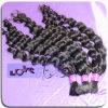 Comercio al por mayor Único Dibujado a granel Color Natural Grandes ondulado cabello humano