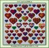 Autoadesivo a forma di di Laster Sticker/Hologram del cuore Colourful (JDS031)
