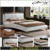 現代フランス様式の白革の普及したベッド
