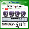 système de surveillance de 4CH 420tvl 600tvl 700tvl 800tvl (BE-9604H4ID)