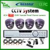4CH 420tvl 600tvl 700tvl 800tvl Surveillance System (BE-9604H4ID)