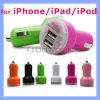 Adaptateur gauche duel coloré du chargeur 2.1A du véhicule USB2 pour Apple Iphones 6 dispositifs d'androïde de 6s et de Samsung