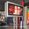 Rectángulo ligero al aire libre de la publicidad LED poste de la cartelera mega de aluminio