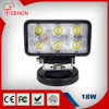 18W Square Headlight Type LED Work Light für Agricultural Equipment