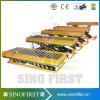 levage hydraulique hydraulique de ciseaux de table élévatrice de rouleau de 1ton 2m