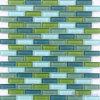 Mattonelle di mosaico Mixed della parete di verde blu del mattone del sottopassaggio