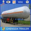 半中国山東3の車軸LPGガスのタンカーのトレーラー