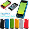 4200mAh Rechargeable Portable Battery Caso para iPhone5 com USB Output