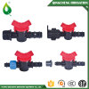 Mini válvulas vendedoras calientes del tubo plástico negro de la agricultura
