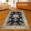 6X9ft Black Foreign Aesthetic Handmade Silk Rugs e Carpet