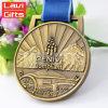 Медаль изготовленный на заказ античного металла плакировкой золота 3D миниатюрное с тесемкой