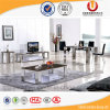 La Tabella pranzante di stile del marmo del blocco per grafici superiore moderno dell'acciaio inossidabile imposta (UL-DC061)