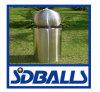 304 grandes boules/sculpture d'acier inoxydable