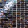 Dunkle bernsteinfarbige Glasmosaik-Fliese