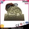 던지기 고대 청동색 완료 주문 3D 금속 운영하는 메달을 정지하십시오