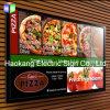 Casella chiara della scheda del menu della cornice del LED per la parete del ristorante che fa pubblicità al segno