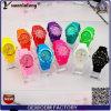 Девушки мальчика студня оптовой продажи вахты Wristband силиконовой резины Yxl-349 вахты кварца льда малышей цветастой самые дешевые