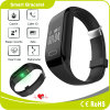 Wristband ardente de Bluetooth do podómetro da caloria do monitor do sono da frequência cardíaca da tecla do toque
