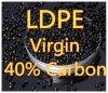 Schwarze Masterbatch 40% LDPE-Körnchen-Jungfrau