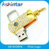 Movimentação do flash do USB do giro da vara da memória do metal do diamante USB3.0