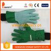 Points de jardinage de PVC de gants de coton sur la paume Dgb110