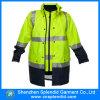 Куртка дождя проезжей части PU оптовой высокой безопасности видимости отражательной Coated