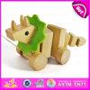 Ligne de traction drôle de 2015 enfants de jouet promotionnel jouets de chien, jouet en bois de corde de traction d'enfants, jouet animal W05b100 de traction en bois de qualité