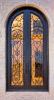 Sz-D029 de aangemaakte Deur van de Ingang van het Smeedijzer van het Glas Dubbele