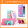 Mobile Phoneのための3D Butterfly Bow Stand Holder Soft TPU Case