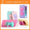 caja suave del sostenedor TPU del soporte del arco de mariposa 3D para el teléfono móvil
