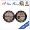 Moneda especial de encargo del metal de la cara del doble de la insignia