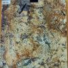 De stevige Plakken van het Graniet van de Chocolade van de Kleur Gouden voor Countertops