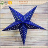 5-Point Popular Blue Hanging Christmas Paper Star